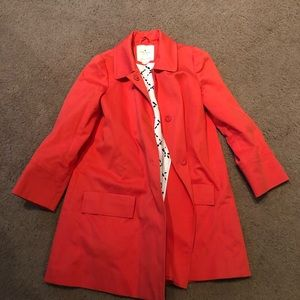 Kate Spade Swing Coat in Coral - Size Small